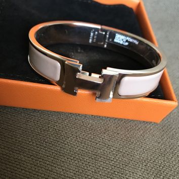 BRAND NEW HERMES CLIC CLAC H BRACELET PM IN MAKEUP BEIGE COLOR ROSE GOLD PLATED!