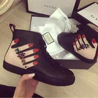 GUCCI fashion casual shoes snake