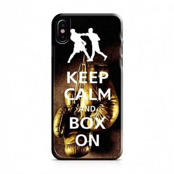 Keep Calm Wwe Boxing Gloves iPhone X Case