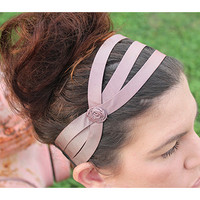 Pink headband, satin headband, elegant headband, head wrap