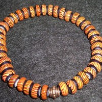 Mens African Glass Bead Bracelet