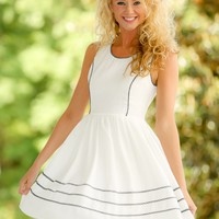 Reality Check Dress-White
