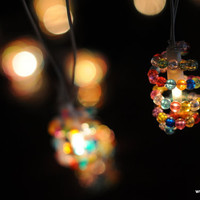 20 vivid rainbow beads handmade string light patio garland decoration wedding party home bedroom light kids
