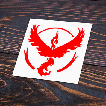 Pokemon GO Team Logo Blue Team Mystic Red Team Valor Yellow Team Instinct Decal Stickers