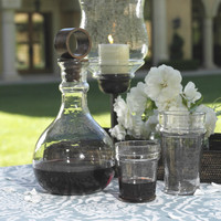 Artisan Hammered Glass Decanter