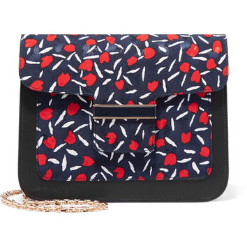 Vanessa Seward - Camelia printed canvas and leather shoulder bag