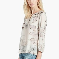 Silk Palm Blouse | Lucky Brand