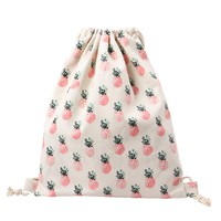 Tropical Pink Pineapple Print Backpack Cotton & Canvas