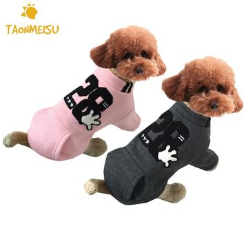 Winter Warm Cute Dog Coat Jacket Soft Blended Cotton Puppy Pet Clothing  For Chihuahua Yorkie Small Dogs and Medium Sized Dogs