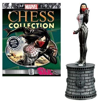 Marvel Silk White Bishop Chess Piece with Collector Magazine #77
