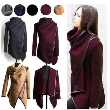 2016 Winter Coats Women Long Cashmere Overcoats Trench Desigual Down Jackets Designer Woman Wool Coats Fur Manteau Abrigos Mujer