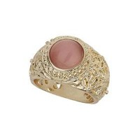 Oval Stone Engraved Ring