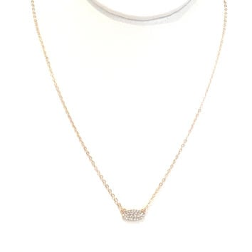 Stay Dainty Crystal Pendant Necklace In Gold