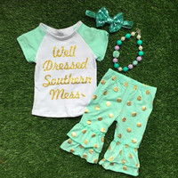 Preorder- Well Dressed Southern mess Capri Set