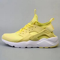 NIKE AIR HUARACHE Fly line Wallace 4 generation men and women leisure shoes yellow