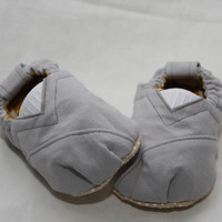 Grey Toms Style Baby Shoes