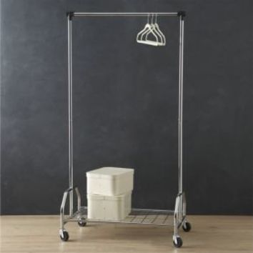 Extra Large Rolling Clothes Rack From Crate And Barrel