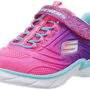 Skechers Kids Swirly Girl Gore and Strap Sneaker (Little Kid/Big Kid/Toddler)