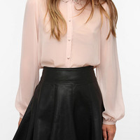 Pins and Needles Pearl Collar Blouse