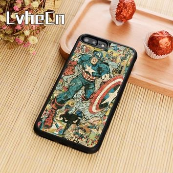 LvheCn Superhero Collection Captain america Spiderman Ironman Batman Marvel Phone Case Cover For Galaxy S6 S7 edge S8 S9 plus