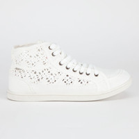 Roxy Rockie Crochet Womens Shoes Off-White  In Sizes