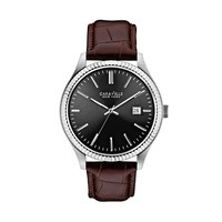 Caravelle New York by Bulova Watch - Men's Leather (Brown)