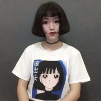 Japanese Style Cartoon Girl Tshirt