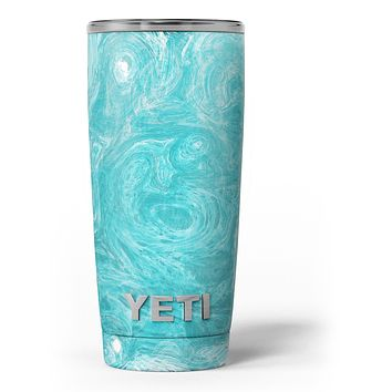 Marble Surface V1 Teal Yeti Rambler Skin Kit