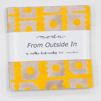 "From Outside In, 5"" Charm Pack, by Malka Dubrawsky for Moda"