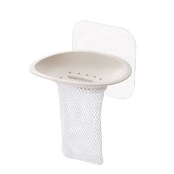 Plastic Soap Dish Holder Suction Cup Soapbox with Mesh for Bathroom Kitchen Accessories 2017ing