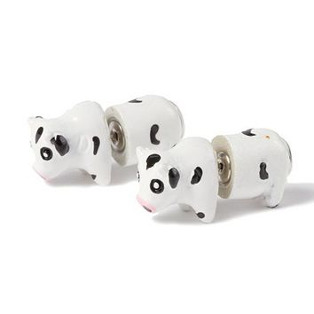 Cow Front and Back Stud Earrings  | Claire's