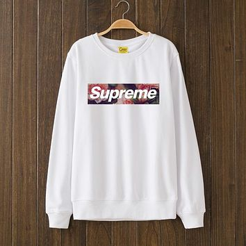 Supreme Woman Men Flower Top Sweater Pullover