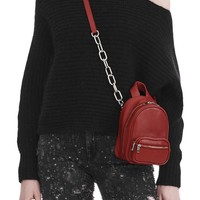 ATTICA SOFT MINI BACKPACK IN CRIMSON WITH RHODIUM | Shoulder Bag | Alexander Wang Official Site