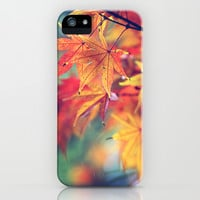 fall leaves iPhone & iPod Case by Sylvia Cook Photography