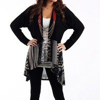 Rock Bottom Cardigan, Blk/Royal