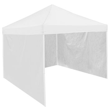 White  9' x 9' Tailgate Canopy Tent Side Wall Panel