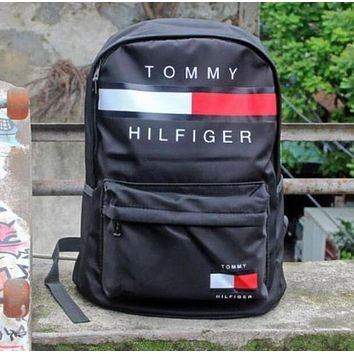 Tommy Hilfiger Casual Sport Laptop Bagr Large Capacity School Bag Backpack
