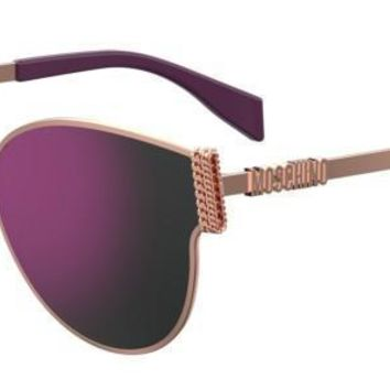 Moschino - Mos 028 F S Gold Cyclamen Sunglasses / Multipink Lenses