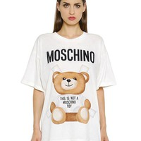 "Hot Sale Moschino ""White Bear"" Fashion Women T Shirt Loose Short Sleeves"