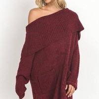 Pocono Burgundy Sweater Dress - FINAL SALE