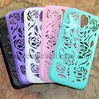 6 color for choice, Floral Samsung galaxy s4 case,galaxy s5 case, samsung i9500 case cover ,mint bird in the floral case for samsung case