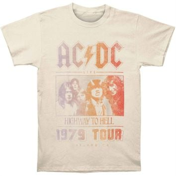 AC/DC Men's  79 Tour T-shirt Cream