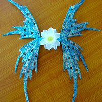 Fairy Wings-Iridescent Aqua Blue Fairy