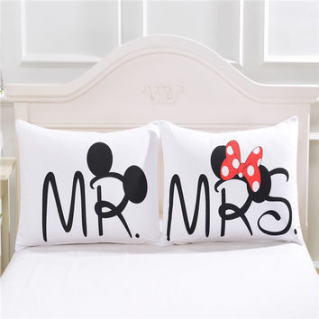 Mickey mouse Heart Body Pillow Cover