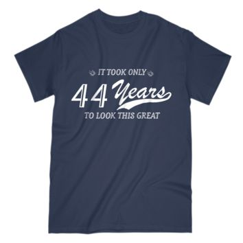 44th Birthday Gift Mens T Shirt Funny Design For Husband Grandpa Uncle Dad