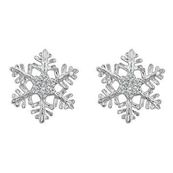 Paula Snowflake Stud Earrings