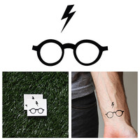 Harry Potter - Glasses - Temporary Tattoo (Set of 2)