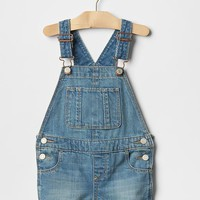 1969 light wash denim shortalls.