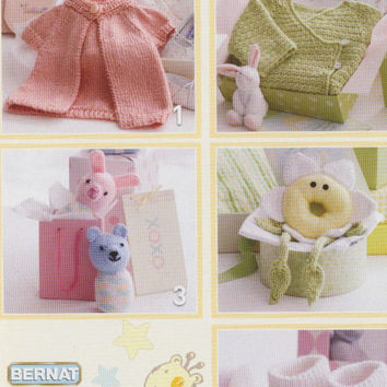 Baby gifts Knitting & Crochet pattern PDF instant download. Blanket, Cardigan, Rattles, Booties, Top. knitting pattern, crochet pattern