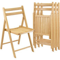 Walmart: Folding Chairs, Set of 4, Natural